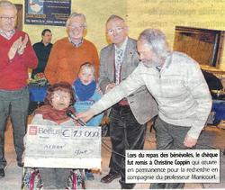 remise du chèque 2013 à l'AFBOI